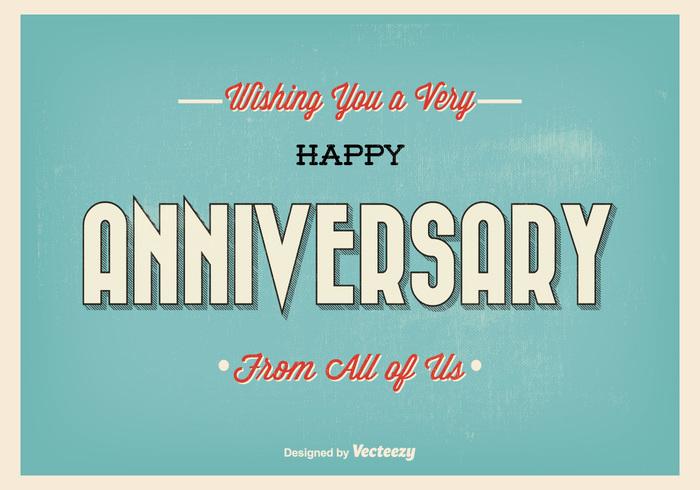 happy anniversary typography
