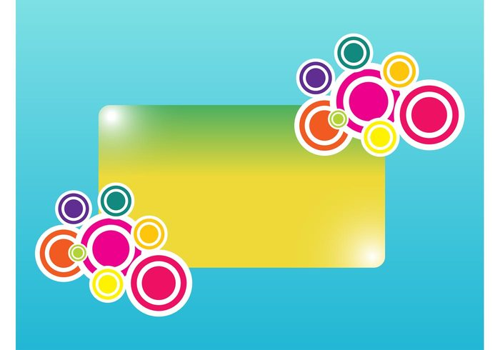sticker shiny rounded round rectangle Geometry geometric shapes colors colorful circles banner abstract