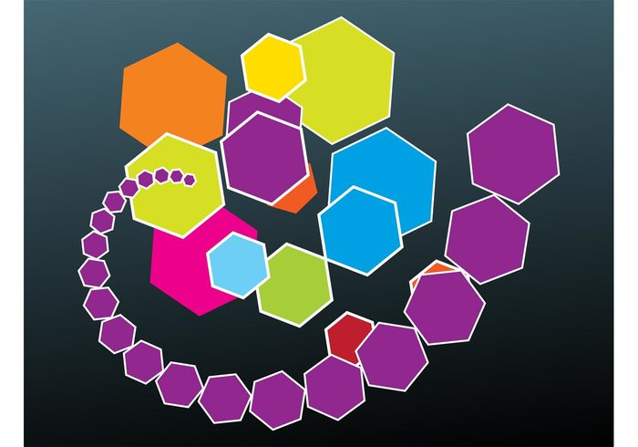 Polygon vectors hexagons Geometry geometric shapes decorative decorations colors bright Backgrounds backdrop abstract