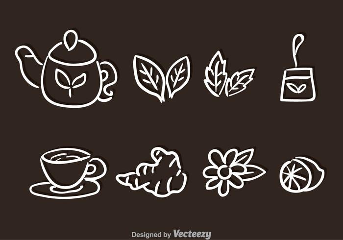 teapot Tea bag tea mug mint lemon leaf high tea herbal heath hand-draw green glass ginger tea ginger drink doodle cup