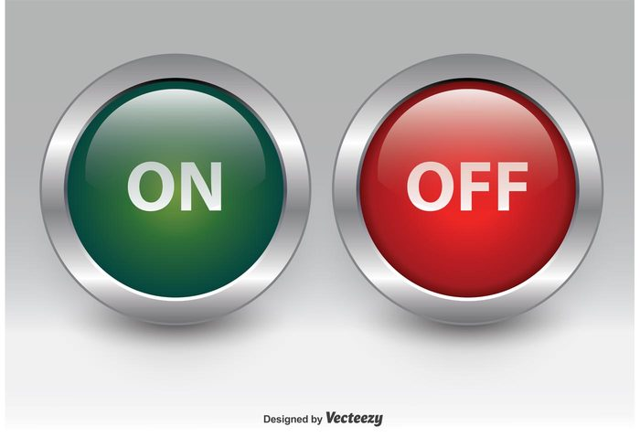On and Off Chrome Buttons - WeLoveSoLo