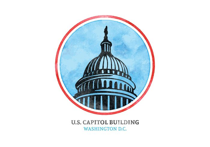 watercolor washington vector USA us capital us united states capitol united states United u. s. capitol dome u. s. symbol states stamp sky silhouette sign senate rounded residence president political pencil drawn office national monument landmark insignia illustration icon historic hill hand drawn government freedom famous Democratic democracy Dc congress capitol hill capitol capital building background architecture american america