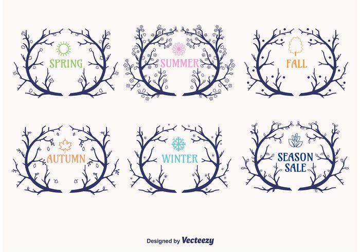wreaths wreath winter vintage twigs twig wreath twig summer spring seasonal wreath sale ornament holiday hand drawn frame flower floral card branch wreath branch border autumn