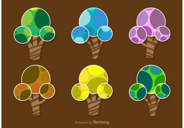 wood trees tree summer stylized style spring silhouette season plant ornate nature modern leaf growth geometric garden forest foliage environment ecology eco Conceptual circle branch botany autumn abstract