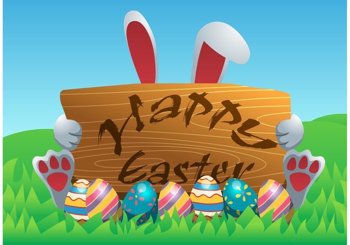 Happy Easter Vector Background 138087