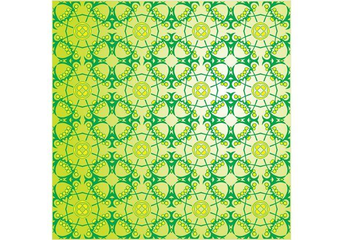 wallpaper vector pattern summer spring seamless resources plants nature pattern green flower floral flora brochure