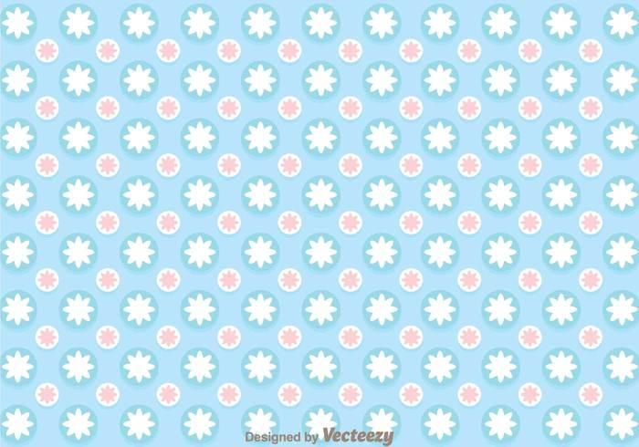 blue circle girly pattern vector 138855