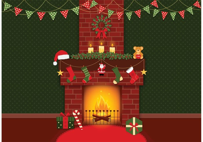 xmas wreath wood winter Warmth warm wall vector tree traditional stocking star seasonal scene santa cap room present Place ornament Noel lounge living light interior inferno indoor house home holiday heat gift furnace flame fireplace fire festive design decoration decorated December cozy christmas fireplace christmas celebration brick bonfire blazing background