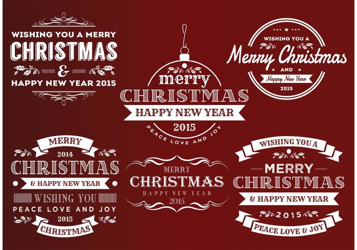 xmas vintage christmas vintage retro insignias retro new years labels new years labels insignias holiday labels