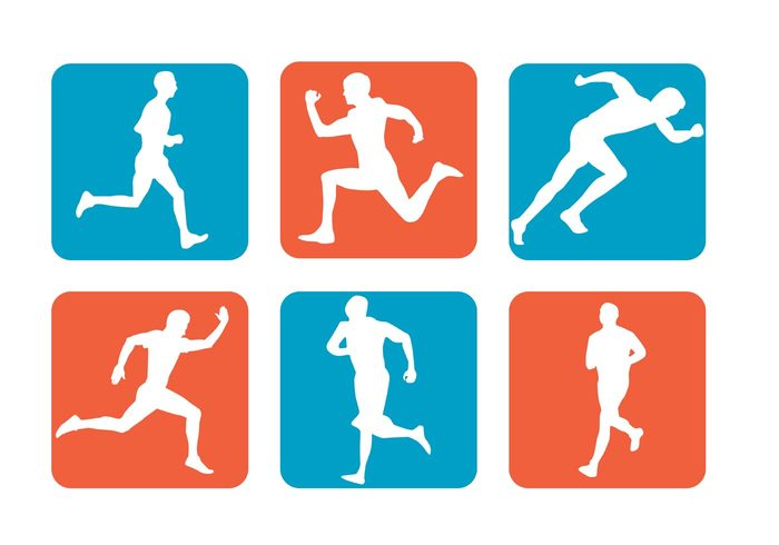 sports silhouette sports sport running runner run pictogram people marathon man silhouette man isolated health fitness exercising exercise Athletic athlete