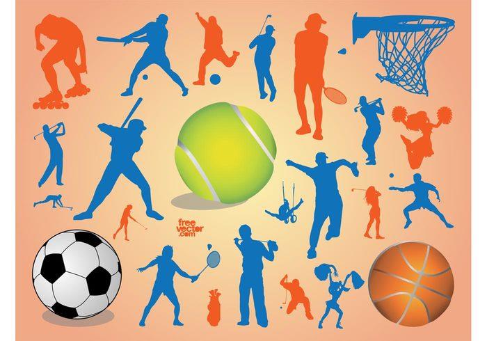 tennis sports Softball soccer gym golf football Cheerleader basketball baseball ball badminton