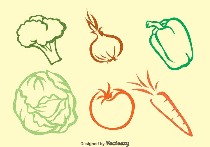 vegetable tomato outline onion nabati green pepper green hot pepper gardening garden fresh carrot cabagge broccoli