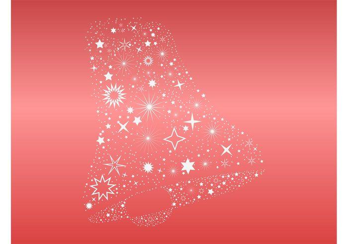winter symbols stars sparkles ornament holiday greeting card festive decorative decoration celebration