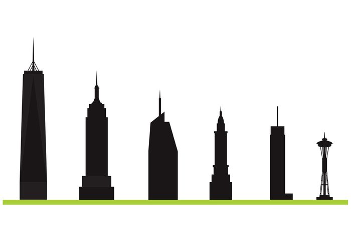 tower tourism structure sky-scraper sky silhouette seattle space needle scrapers scraper modern city building background architecture