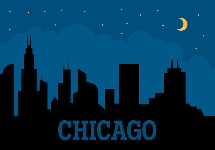 Chicago Skyline Graphic
