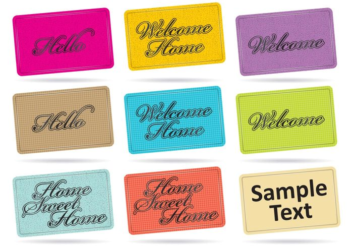 white welcome mat welcome home welcome Single plain photography object Nobody message mat isolated image horizontal home sweet home home hello floor doormat door directly decor communication color background accessory Above