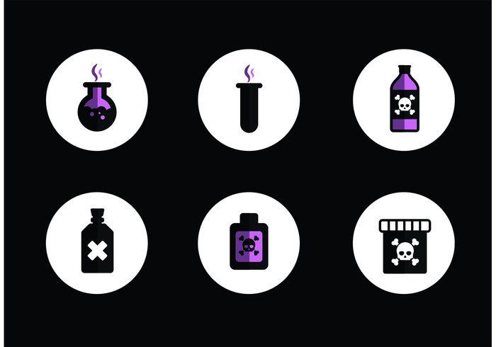 toxic skull poisons poison sign poison bottle poison pills liquid Lethal Kill evil drink die death danger Chemical bottle Beware