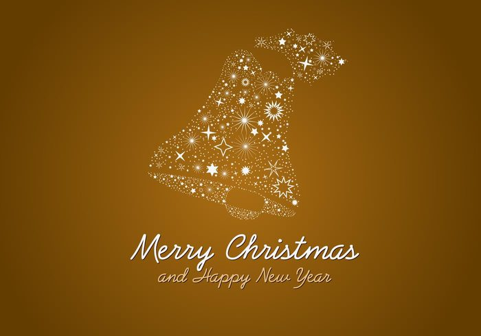 yuletide stars sparkle seasons holiday design decoration decor christmas bell