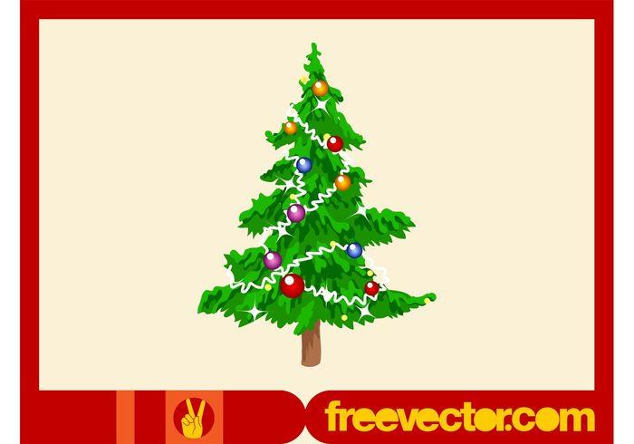 tree sparkles pine ornaments holiday garlands fir festive decorations christmas celebration balls