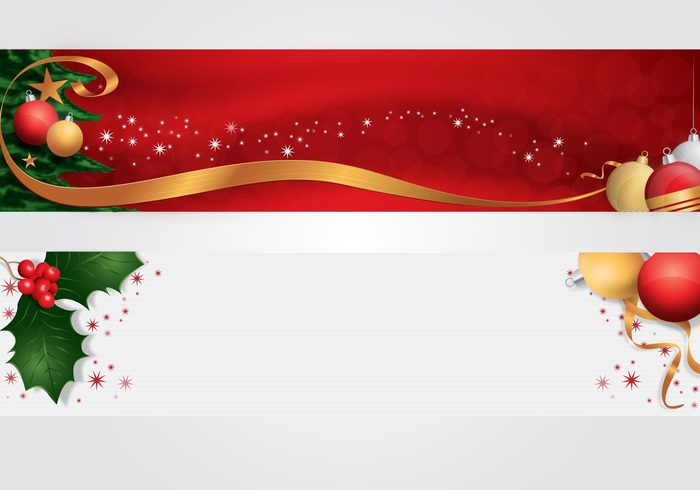 yuletide seasons seasonal ribbon holiday headers decoration christmas balls christmas banner