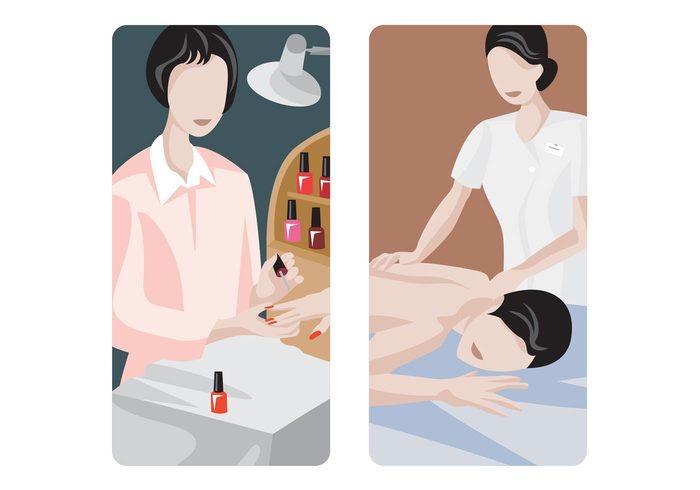 women woman wellness spa nail polish Nail artist Masseuse Massage parlor massage manicure beauty salon Beauty parlor beauty