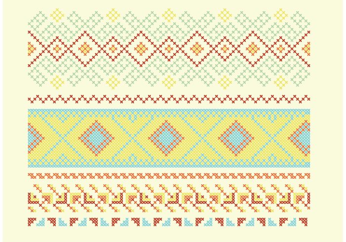 traditional towel Textile tablecloth table linen table cloth symmetry style stitch seamless Repetition repeat pattern ornate modern geometric framework Folk fabric embroidery editable decoration decorate decor cross stitch cross corners colorful cloth classic borders background