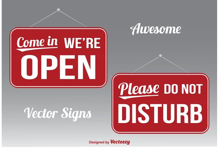 we're open we're open sign warning Vector signs stop Silence signboard sign room red signs Private Privacy please placard open occupied not Nobody no mark label isolated icon hanging emblem door dont do not disturb Do disturbing disturb communication come in sign come in button busy board banner background