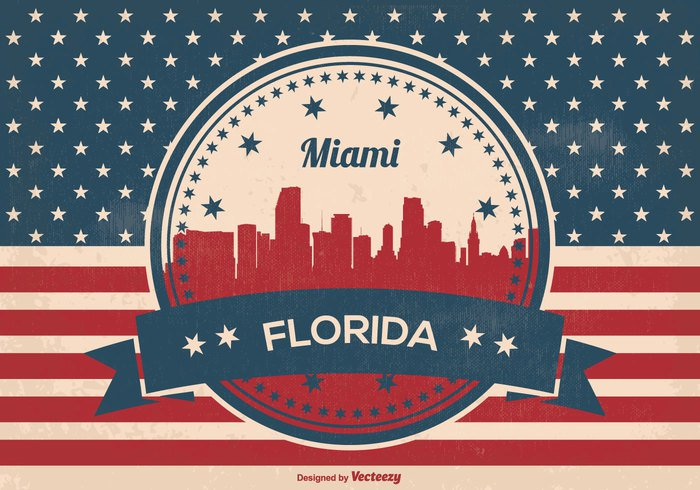 white weathered vintage USA united states United Triumph travel texture symbol stripes states star Stain spotted skyline silhouette retro red white blue red Pride postcard pattern Patriotism patriotic paper old national miami skyline miami florida miami honor history grunge graphic Glory freedom florida flag Fame dirty design Damaged country canvas brown blue banner background antique ancient american flag american america