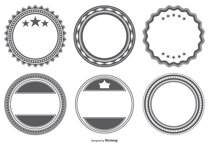Blank Vector Badge Shapes 263669