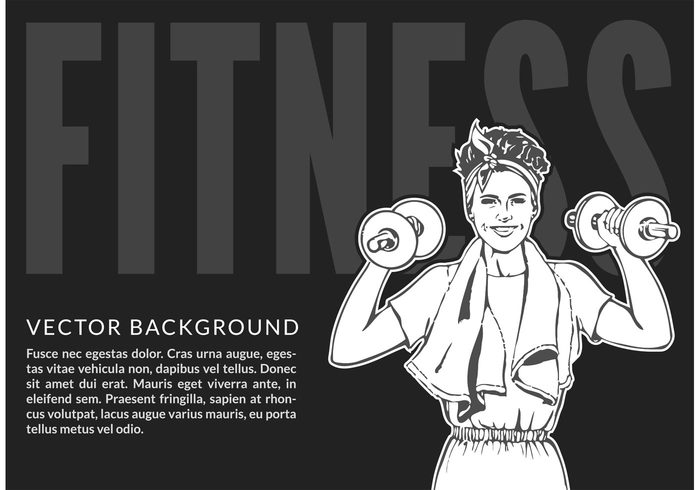 young Workout woman biceps woman weight vector training strong strength sporty sport pretty muscular Muscles lifestyle illustration Healthy gymnastics gym grayscale girl fitness female exercise dumbbell copyspace building Bodybuilding black Biceps beautiful background attractive Athletic arm Adult active