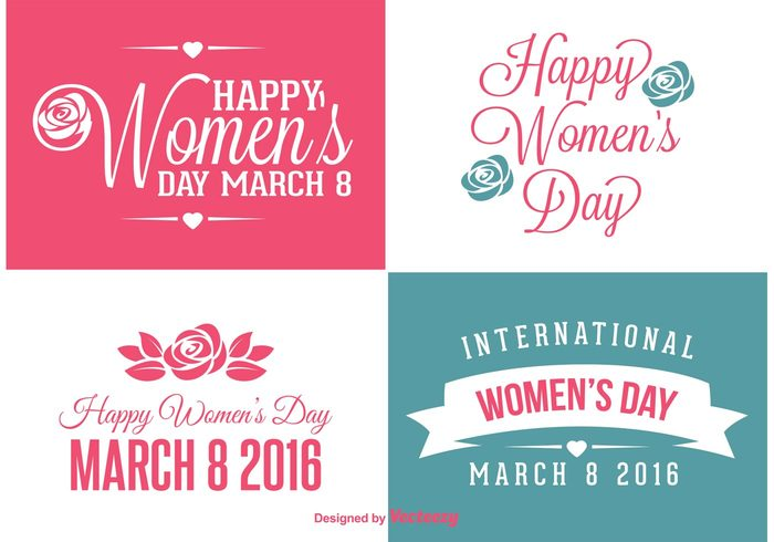 womens day women's women womans day vintage typography type title text symbol sign sex sale retro poster pink party mother march 8 March love logotype logo labels label international icon holidays heart happy women's day greeting font feminine element design day date celebration card badge background