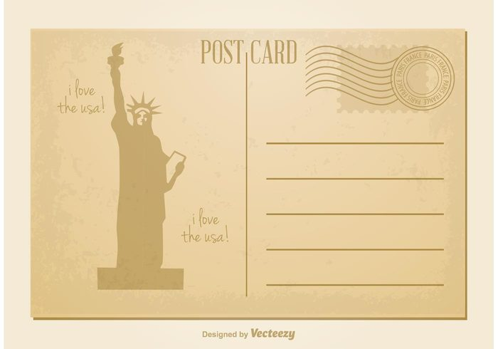 york vintage post card vintage vacation travel tourism symbol statue of liberty post card Statue of Liberty statue stamp souvenirs retro post card retro postcard postage post paper old post card old nostalgia new message mail maerican post card Liberty historical greeting frame document Correspondence card capital business blank background