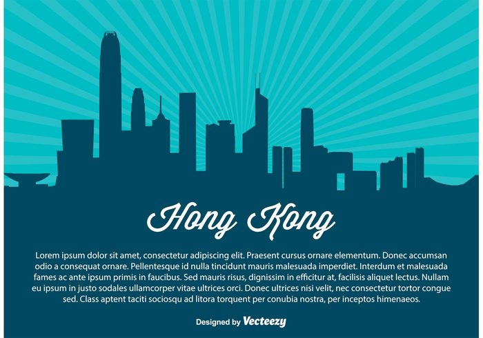 travel skyscraper skyline sky silhouette shore poster postcard port panorama modern landmark Kong island hong kong skyline hong kong silhouette Hong Kong hong high front Facade east downtown coast cityscape city china building beautiful background Asian asia architecture