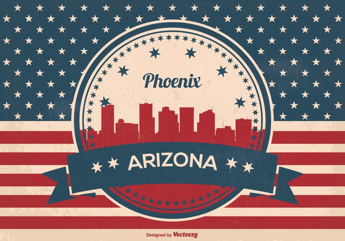 welcome vintage view USA united states United Triumph travel town texture symbol stripes state star Stain spotted skyline silhouette retro red white blue red poster Post card phoenix arizona phoenix patriotic panorama old national jeans history grunge Glory freedom flag famous falf downtown design denim country city skyline city blue black banner background arrivals arizona skyline Arizona antique ancient american flag american america airport