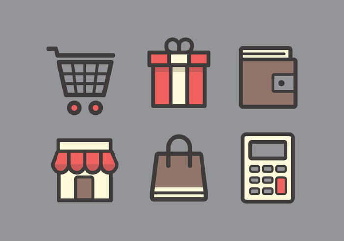 wallet vector symbol supermarket sign shopping trolley shopping icons shopping cart shop shipment set service sale purse purchase promotion promo product price Parcel online money logistic line illustration icon gift box gift flat fashion element drink dollar discount design delivery coupon concept commercial commerce collection clothing cart calculator buy button business box background account