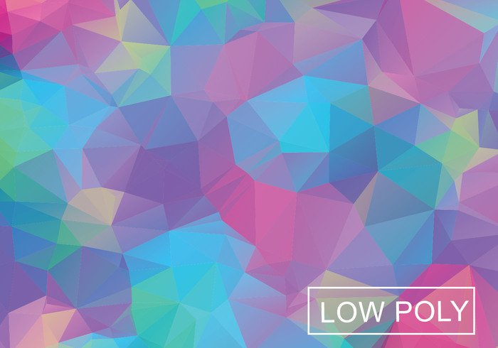 590tsitloqzhn59 Cool Color Geometric Low Poly Style Illustration Vector