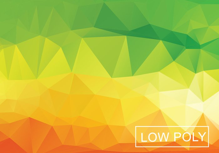 592v4eicucxam54 Warm Geometric Low Poly Style Illustration Vector