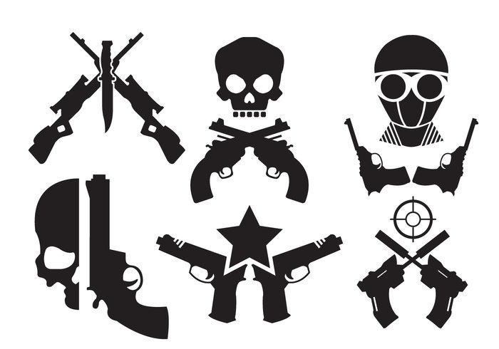 weapon tattoo symbol skulls skull skeleton revolver rebel pistol illustration guns gun flag emblem dead danger crossed guns crossed casino banner badge background american