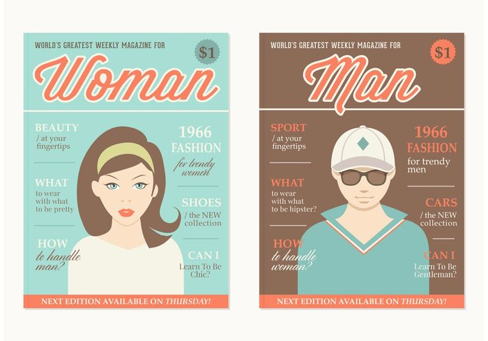 woman vintage typography template retro read print picture people News model man magazine layout magazine lifestyle leisure icon hipster graphic girl flat fashion Example design cover cool dude clothing character cartoon boy beauty background avatar advertising