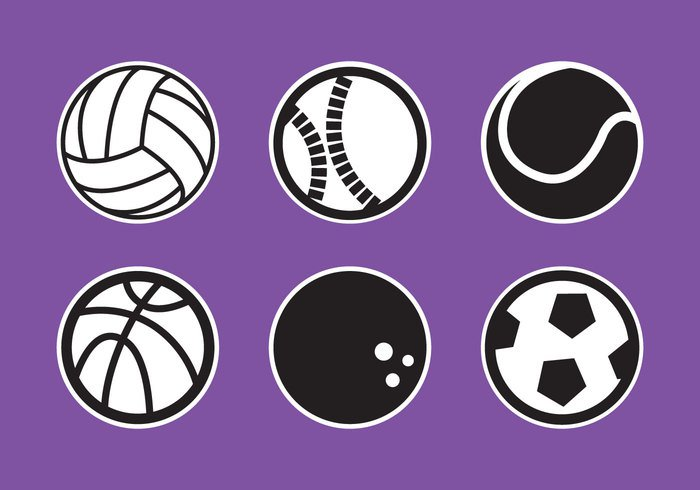 white volleyball vector volleyball tennis symbol sports sport soccer sign pattern logo isolated illustration icons football equipment design collection bowling basketball baseball balls ball background
