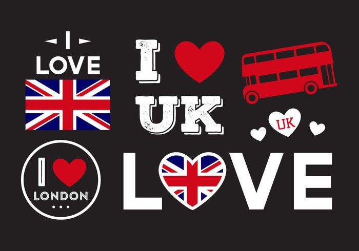 vintage urban United Union UK typography symbol sticker stamp sign shirt retro print love London i love uk grunge graphics flag England design background art