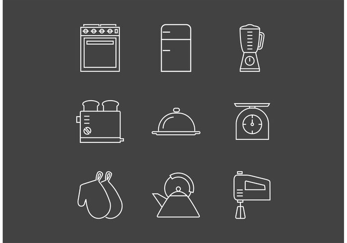 vintage kitchen utensils vintage vector utensil symbol spoon Spatula Simplicity set scales retro restaurant Oven outlined outline objects Measuring linear line life kitchen image illustration icon household grater fridge food equipment eps10 element design cooking collection Coffee grinder buttons Backgrounds art 1940-1980