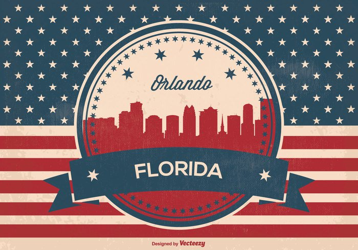59q50fj0j2nsk56 Retro Style Orlando Florida Skyline Illustration