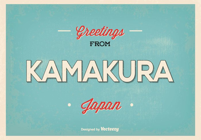 welcome vintage vector typography typographic travel tower texture symbol skyscraper skyline sky retro poster postcard Post card panorama office night modern Metropolis landmark kamakura japan kamakura Japanese japan greetings japan isolated illustration icon horizontal holiday hello from japan hello greetings from greeting card greeting flat Destination design cover city card business building blue beautiful banner background asia advertise