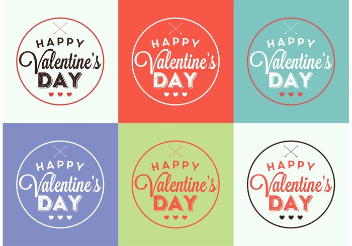 vintage valentines day valentine typography typographic elements type text sign retro poster party love label joy heart happy font day date couple color background celebration card banner background art arrow anniversary