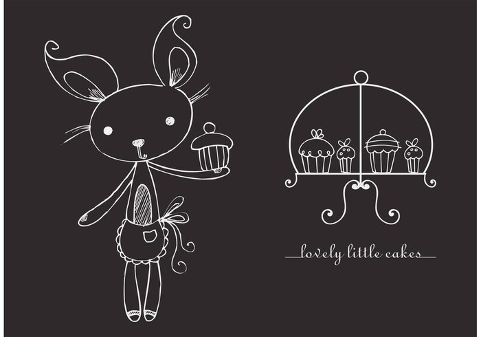 vintage vector sweets sugar stand snack sketch set pastry objects illustration hand food drawn drawing doodle dessert design delicious cupcake stand cupcake creative Cookie collection chocolate chalk cake bunny bakery background Assortment art
