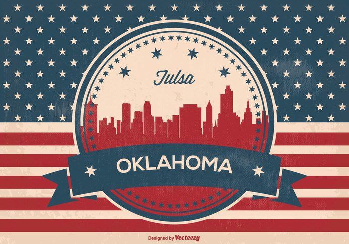 welcome vintage view USA us united states United tulsa skyline tulsa oklahoma Triumph travel town texture symbol stripes state star Stain spotted skyline silhouette retro red white blue red patriotic panorama old oklahoma skyline oklahoma national material jeans history grunge Glory freedom flag famous downtown design denim country city silhouette city blue banner background arrivals antique ancient american flag american america