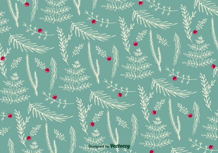 Christmas Floral Pattern Vector Welovesolo