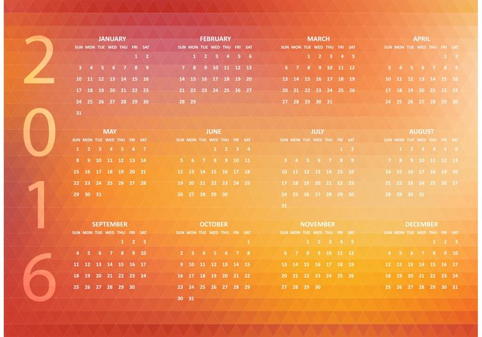 year week vector triangle time template schedule polygonal calendar polygon planner paper page origami organizer office number mosaic month illustration header graphic geometric footer element digital diary diamond design decorative day date daily calender calendar 2016 calendar background Annual 2016