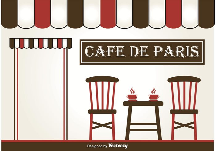 vintage vector urban town text table street silhouette sign seat scene romantic retro restaurant paris cafe Paris outside outdoors outdoor cafe menu London illustration graphic furniture exterior Europe drink design cup Coffee house coffee city chair cafe building background architecture